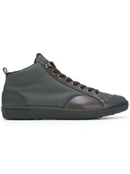 Car Shoe Contrast Panel Hi Top Sneakers Grey