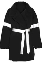 Norma Kamali Reversible Cotton Blend Coat Black