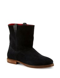 Liebeskind Round Toe Suede Ankle Boots Black