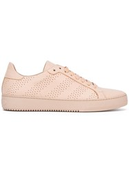 Off White Perforated Sneakers Pink Purple