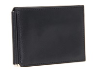 Bosca Old Leather Collection Money Clip W Pocket Black Leather Wallet