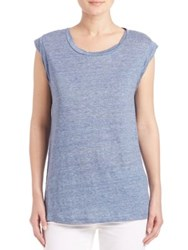 Joie Candella Heathered Linen Slub Tee Heather Faded Sky
