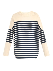Adam By Adam Lippes Striped Cotton Jersey Top