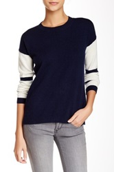 Kier And J Baseball Cashmere Sweater Blue
