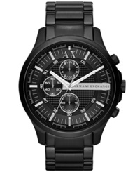 Ax Armani Exchange Men's Chronograph Black Ion Plated Stainless Steel Bracelet Watch 46Mm Ax2138