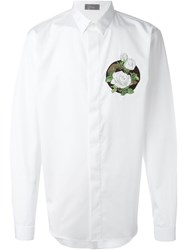 Christian Dior Dior Homme Floral Embroidered Shirt White