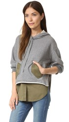 3.1 Phillip Lim Sweatshirt With Utility Shirttail Olive