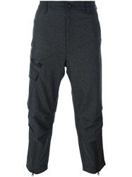 Y 3 Cropped Trousers Grey