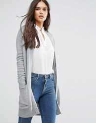 Sisley Cardigan In Cashmere Blend Grey
