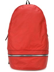 Z Zegna Zip Detail Backpack Red