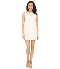 Roxy Coast Is Clear Dress Sand Piper Women's Dress White