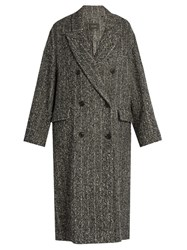 Isabel Marant Habra Tweed Coat Dark Grey