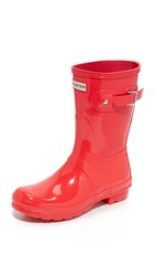Hunter Original Short Gloss Boots Bright Coral