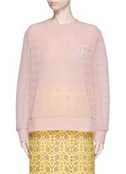 Emilio Pucci Logo Embroidery Double Tulle Sweatshirt Pink