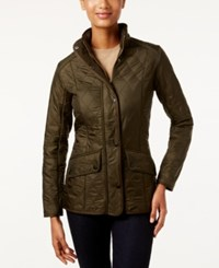 Barbour Cavalry Polarquilt Quilted Utility Jacket Dark Olive