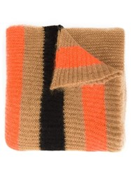 Undercover Ribbed Knit Scarf Brown