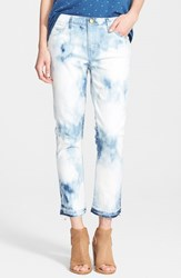 Women's Current Elliott 'The Cropped Straight' Ankle Jeans Indigo Summer Tie Dye W Rlh