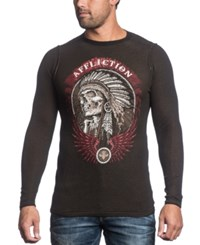 Affliction Reversible Thermal Thunderfoot Long Sleeve Shirt
