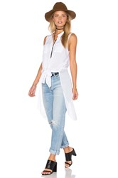 Bcbgeneration Elongated Button Up Top White