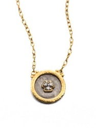 Gurhan Imperial Diamond 24K Yellow Gold And Sterling Silver Pendant Necklace