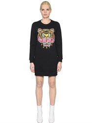 Kenzo Tiger Embroidered Cotton Jersey Dress