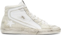 Golden Goose Beige Calf Hair And Leather Slide Sneakers