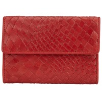 John Lewis Collection Weekend By Rosa Weave Leather Purse Red