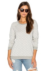 Sundry White Dots Terry Sweatshirt Gray