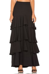 Lucy Paris Liane Ruffled Skirt Black