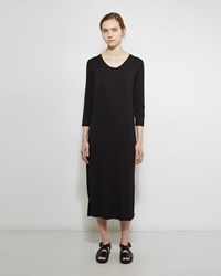 Raquel Allegra Boxy Tee Dress Black