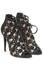 Pierre Hardy Suede And Metallic Leather Stiletto Sandals Multicolor