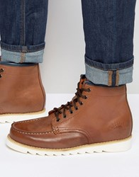Bellfield Heritage Boots In Tan Leather Tan