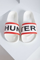 Hunter Slide Sandal White
