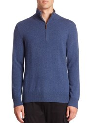 Polo Ralph Lauren Cashmere Half Zip Sweater Shale Blue