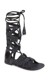 Free People Women's 'Mesa Verde' Tall Gladiator Sandal Black Leather