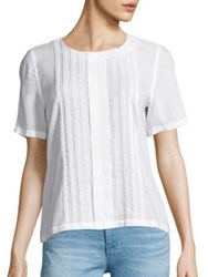Ag Jeans Fay Pleated Blouse True White