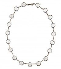 Bottega Veneta Cubic Zirconia Embellished Necklace Silver