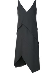 Narciso Rodriguez Layered Shift Dress Grey