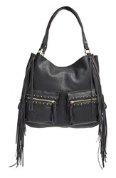 Big Buddha Fringe Faux Leather Expandable Tote