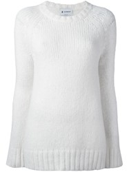 Dondup Round Neck Jumper White