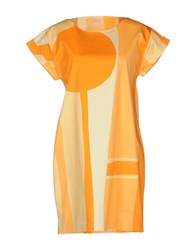 Rossopuro Dresses Short Dresses Women Orange