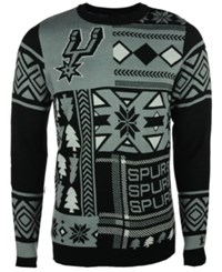 Forever Collectibles Men's San Antonio Spurs Patches Christmas Sweater Black Gray