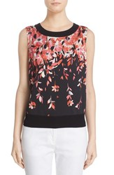 St. John Women's Collection Floral Print Shell
