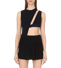 Anthony Vaccarello Cut Out Neoprene Body Black