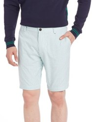 Lacoste Oxford Check Shorts White Navy