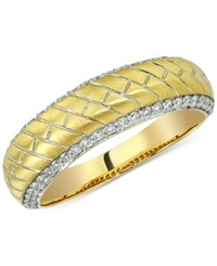 Esquire Men's Jewelry Diamond Herringbone Band 1 2 Ct. T.W. In 14K Gold Only At Macy's Yellow Gold