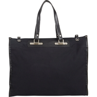 Tramontano Canvas Roll Up Tote Black