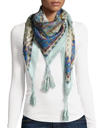 Bylexi Square Silk Scarf Multi Jwla For Johnny Was