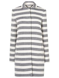 Lk Bennett L.K. Arca Striped Coat Blue