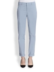 Vince Boyfriend Fit Straight Leg Pants Slate Blue Light Khaki